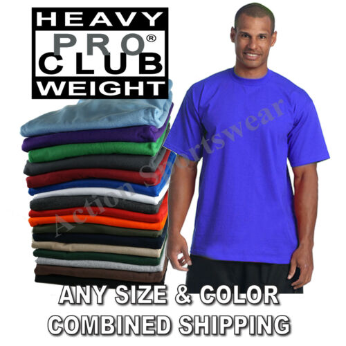 PRO CLUB PROCLUB Heavy Weight Short Sleeve Plain Tall or Reg T-shirts Tee S-7XL
