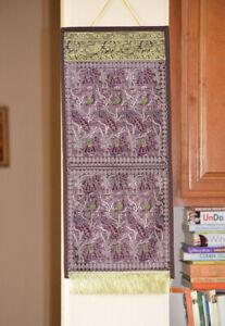 Brocade-Art-Silk-Wall-Decor-organizer-Wall-Hanging-from-India