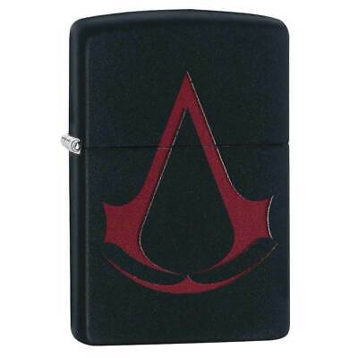 Zippo 29601 Classic Assassin S Creed Black Matte Windproof Lighter