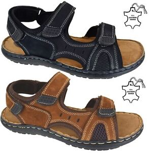 MENS-LEATHER-UPPER-SUMMER-HIKING-WALKING-TREKKING-BEACH-HOILDAY-SANDALS-SHOES-SZ