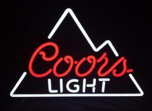 New coors light beer bar pub neon light sign 19x15 ebay image is loading new coors light beer bar pub neon light aloadofball Choice Image
