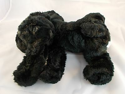 "Chosun Black Puppy Dog Bean Plush 12"" Long"