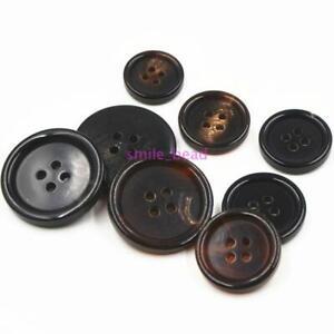 10Pcs-Natural-OX-Horns-Buttons-4-Holes-sewing-Scrapbooking-Craft-15mm-25mm-DIY