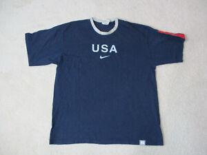 VINTAGE-Nike-Shirt-Adult-Extra-Large-Blue-Gray-USA-Olympics-Team-Mens-90s
