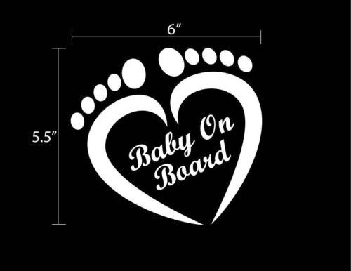 "Custom Baby on Board Love Heart Sticker Decal 6/"" x 5.5/"" Buy 2 Get 1 Free"