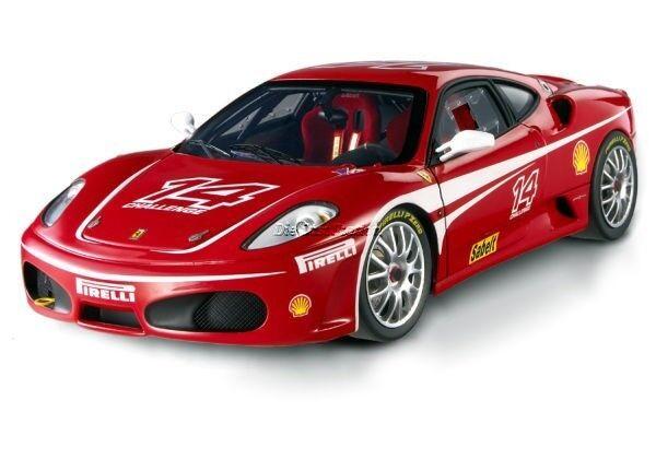 Ferrari F430 Challenge  14 1 18 rouge DIE CAST MODEL par Hot Wheels Elite J2923