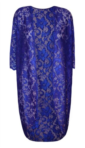 Womens Open Front Floral Lace Long Cardigan Top Ladies Short Sleeve Kimono Top