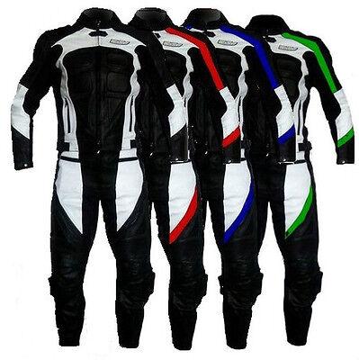 2-teiliger Motorrad Lederkombi NEU M L XL 2XL 3XL 4XL 50 52 54 56 58
