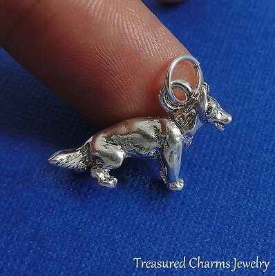 Silver GERMAN SHEPHERD CHARM Dog Shepard PENDANT *NEW*