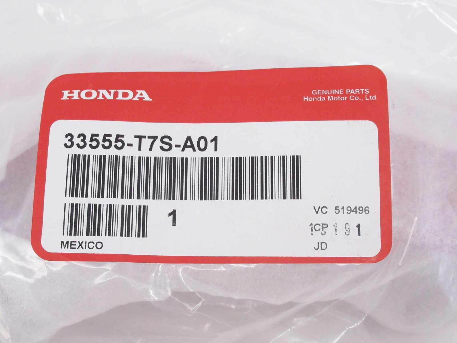 Genuine Honda Reflector Assembly L Rear 33555-T7S-A01