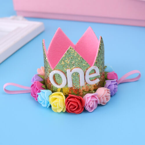 Baby Toddler Rose Flower Crown 1st Birthday Party Hat Headband Hairband Photos