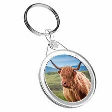 Keyring IR02 Mum Dad Birthday Cool Gift #16283-2 1 X Highland Cows Cattle Farm