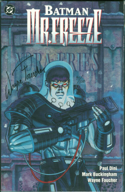 Batman Mr Freeze Trade Paperback TPB Dynamic Forces Ed. Signed by Faucher w/ COA
