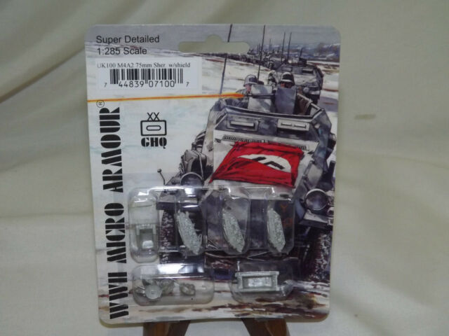 GHQ Modern Micro UK 1/285 M4a2 Sherman With Sand Shields Pack MINT