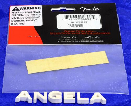 Genuine Fender ® Vintage Jazz J Bass Raw Brass Pickup Shield 0010686000 NEW!