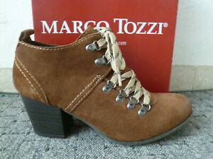 Marco Tozzi Court Shoes Casual Shoes Slippers Leather Braun Years New