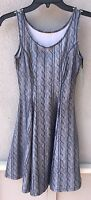 $92 Zara Terez Brand Gray Sweater Design Skater Dress Girl's Size Xl Or 16
