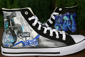 hand painted converse high tops made to order design your own.  04592f3b9