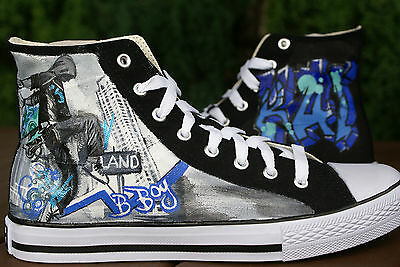 hand painted canvas high tops made to order design your own.