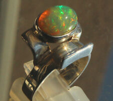 Welo Opal 3 Karat 950er Silberring Größe 19,1 mm