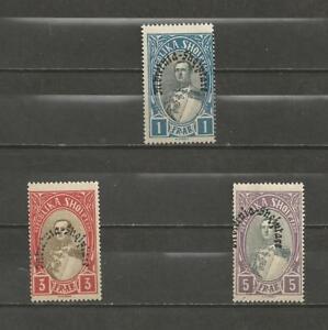 ALBANIA-1928-Overprinted-034-Mbretnea-Shqiptare-034-1-3-amp-5FR-MINT-UNHINGED