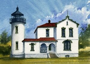 Admiralty Head Lighthouse Coupeville Whidbey Island Washington Notecards