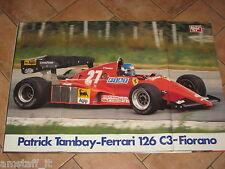 # POSTER PATRICK TAMBAY FERRARI 126 C3 1983 MISURE CM.80X55