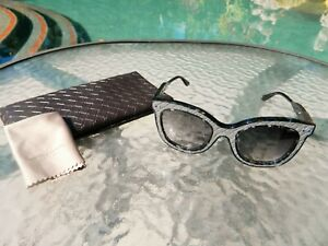 ae5c1d8a4402 Authentic Bottega Veneta BV0035SA NEW Gray Tort w Leather Sunglasses ...