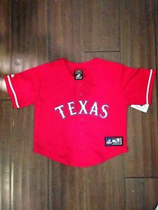 separation shoes 86e04 0fb4b Details about Texas Rangers NEW Youth Size Medium 5/6 Jersey . MLB Baseball  Girls Boys Child