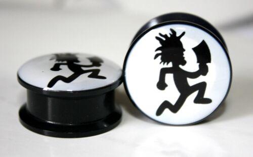 INSANE CLOWN POSSE Screw-on plugs Acrylic 1 Pair