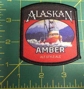 NEW-Alaska-Amber-Ale-beer-Iron-On-Patch-Alaska-printed-style-Patch-ALT-Ale