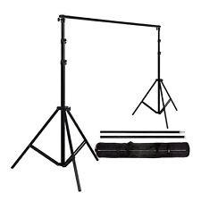 Adjustable Background Backdrop Stands Photography Crossbar Frame Kit 2x2 3 shots