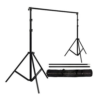 2x2m Adjustable Background Support Stand Pro Photo Backdrop Crossbar Kit Studio