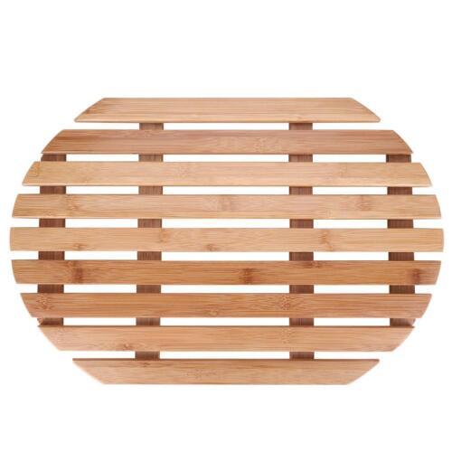 Oval Rectangle Shower Bathroom Bath Floor Mat Spa Sauna Non-Slip Mold Resistant