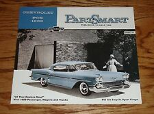 1958 Chevrolet Part Smart Sales Brochure 58 Chevy Coupe Convertible