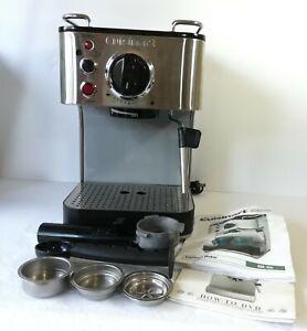 Cuisinart EM-100 Espresso Maker 15 Bars Pressure Stainless Steel Coffee Machine