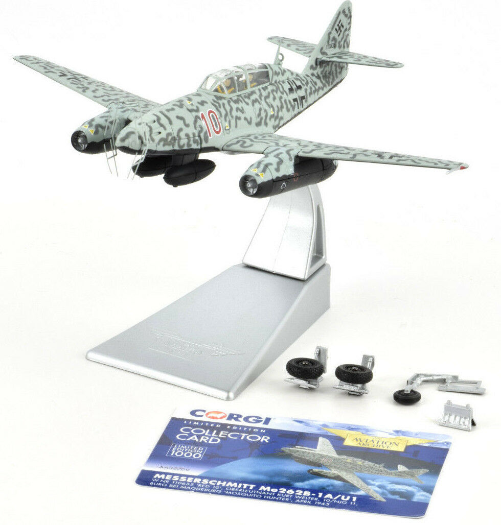 Corgi Messerschmitt ME 262B-1A U1 - April 1945 1 72 Die-Cast Airplane AA35709