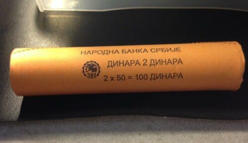 FREE SHIP 2016 SERBIA 2 DINARA BIN #GGG Uncirculated From Serbian Bank Roll