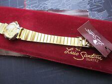 ladies luis santini quartz watch, in velvet  case,,, NOS  running well with tag