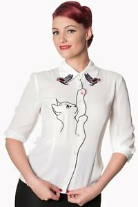 Dancing-Days-by-Banned-Kitty-Cat-White-Crepe-Blouse