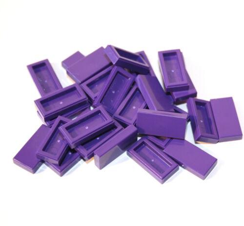 30x LEGO ® piastrella//TASSELLO 1x2 3069b Nuovo Scuro Viola DARK PURPLE