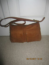 vintage Fossil women's Brown genuine Leather  Bag Purse handbag
