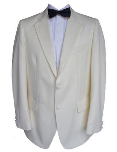"100/% Wool Cream Tuxedo Jacket 44/"" Regular"