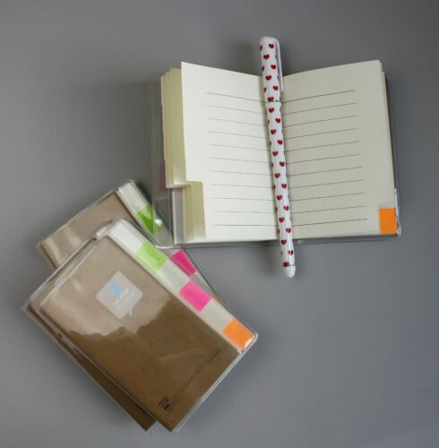 Small Hard Back Ruled Notepad Lined Page Fun Pocket Size Notebooks