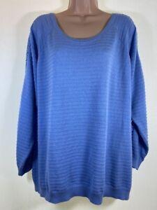 MARKS-amp-SPENCER-bluebell-blue-crochet-insert-jumper-PLUS-SIZE-22-euro-50