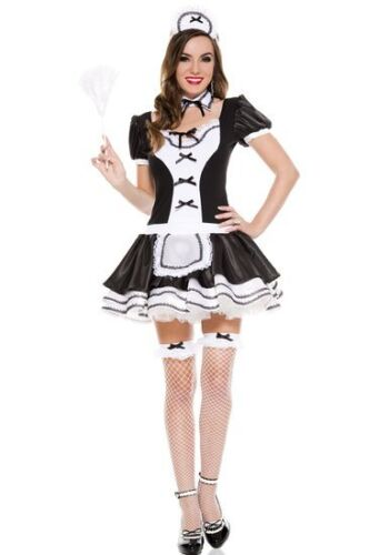 Music Legs 4 PC Ladies Sweet and Majestic French Maid Uniform 70570