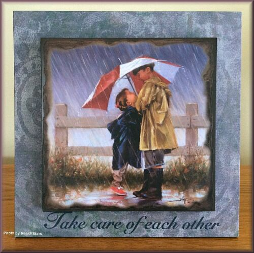 Mama Says Take Care Of Each Other Wall Art Or Tabletop Art By Kathy Fincher