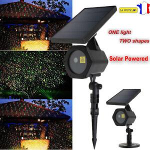 Solaire-LED-lumiere-Laser-Dynamique-Projecteur-Rouge-amp-Vert-Eclairage-Noel-Fete