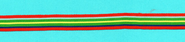 PACIFIC STAR  MINIATURE MEDAL RIBBON OLD SILK/COTTON 6 INCHES