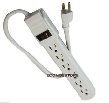 New UL LISTED 6 Outlet Power Strip Surge Protector 1.6 ft 14/3 AWG Free Shipping